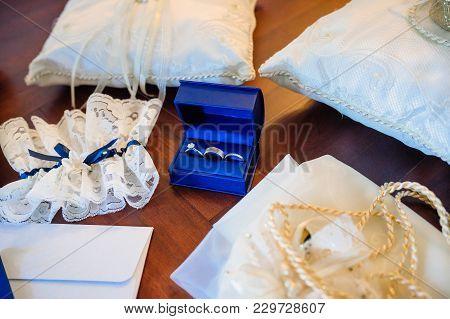Wedding Rings, Engagement Rings, Garter, Pincushion, Letter