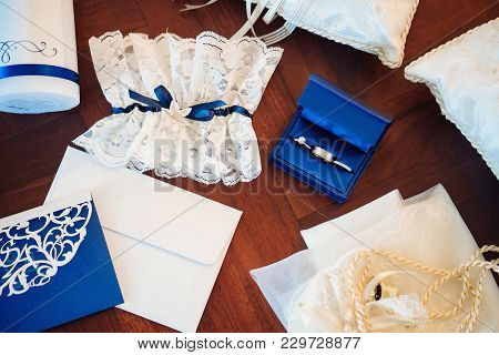 The Wedding Rings In The Blue Box, The Garter For The Bride, The Letter Of Vowel, The Pincushion, Th