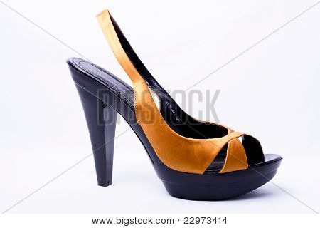 Yellow Women High Heel Women Shoe