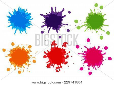 Vector Color Paint Splatter,splatter Pack Collection,illustration Vector Design
