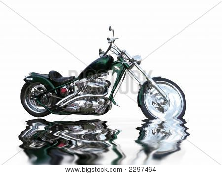 Isolated Motorcycle