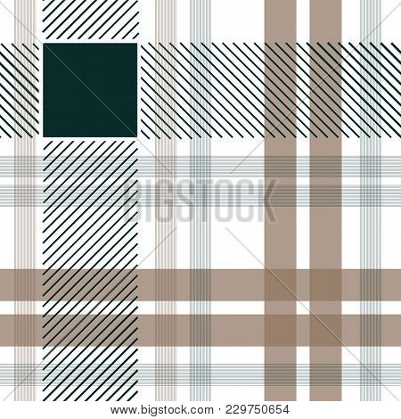 Tartan Fabric Seamless Pattern. Stock Vector Illustration Of Geometric Textile Cloth In Traditional