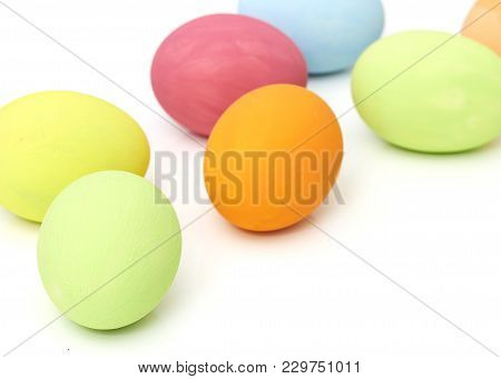 Easter Festival Backgrounds With Colored Eggs