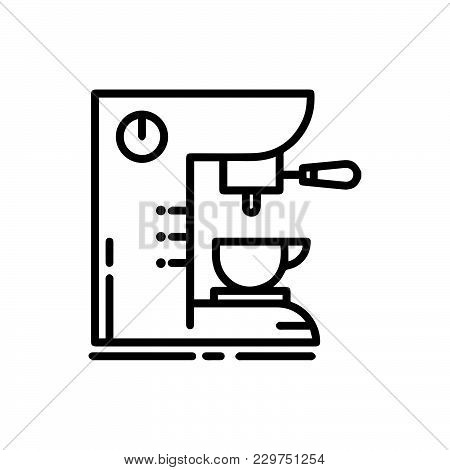 Coffee Machine Icon Isolated On White Background. Coffee Machine Icon Modern Symbol For Graphic And