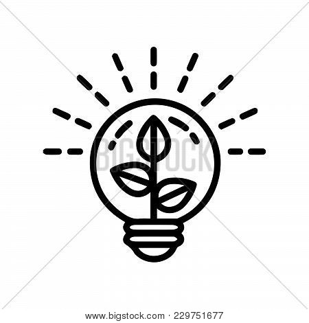 Light Bulb Tree Icon Isolated On White Background. Light Bulb Tree Icon Modern Symbol For Graphic An