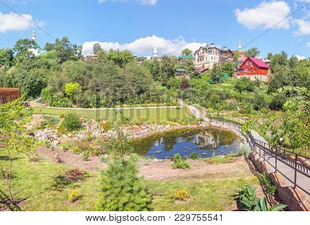 Vladimir, Russia - August 10, 2017: A Picturesque View With A Pond In The Patriarchal Garden On A Su