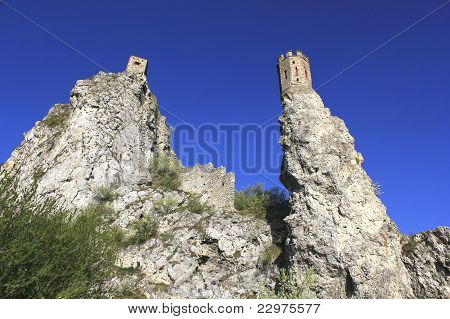 historic ruins of castle Devin
