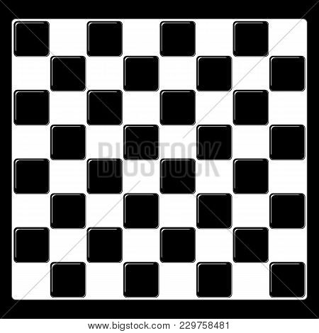 Vector Modern Empty Chess Board Background. Ready Layout For Your Design. Chess Background Mockup