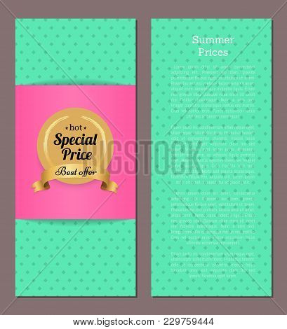 Hot Special Price Best Offer Summer Collection Advertisement Poster With Place For Text, Vector Illu