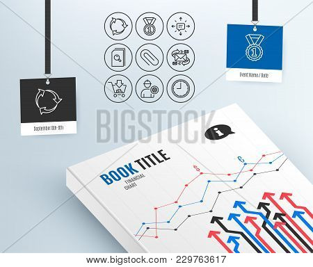 Set Of Sms, Recycle And Shopping Icons. Engineer, Paper Clip And Search Files Signs. Best Rank, E-ma
