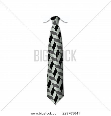 Black And White Ties Isolated On White Background Vector