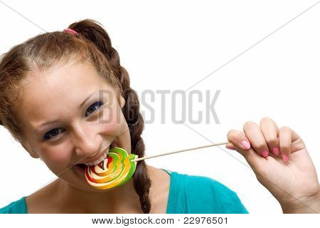 Woman With Lolipop