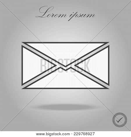 Mail Icon Vector Isolated On White Background. Trendy Mail Icon In White Style.template For App, Ui