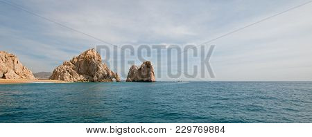 Los Arcos / The Arch At Lands End As Seen From The Pacific Ocean At Cabo San Lucas In Baja Californi