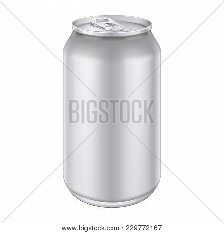 Gray Metal Aluminum Beverage Drink Can 500ml. Ready For Your Design. Product Packing. Eps 10