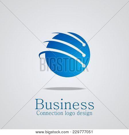 Connect Logo Design, Tech Logo Vector Icons.