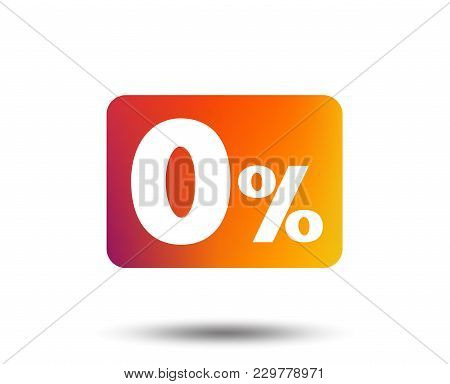 Zero Percent Sign Icon. Zero Credit Symbol. Best Offer. Blurred Gradient Design Element. Vivid Graph