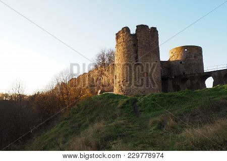 Ancient Beautiful Medieval Fortress.  The Fortress In Koporye Was Founded In 1237 - Is Located In Th