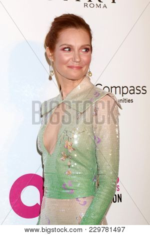 LOS ANGELES - MAR 4:  Darby Stanchfield at the 2018 Elton John AIDS Foundation Oscar Viewing Party at the West Hollywood Park on March 4, 2018 in West Hollywood, CA