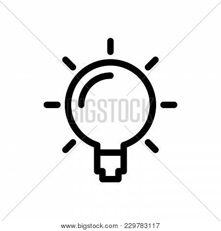 Light Bulb Icon Isolated On White Background. Light Bulb Icon Modern Symbol For Graphic And Web Desi