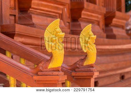 Building Architect Wat Tha Sila At Buddha Temple Chaliang, Khon Buri District Nakhonratchasima, Thai