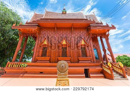 Nakhonratchasima, Thailand - July 1, 2017 : Wat Tha Sila At Buddha Temple Chaliang, Khon Buri Distri