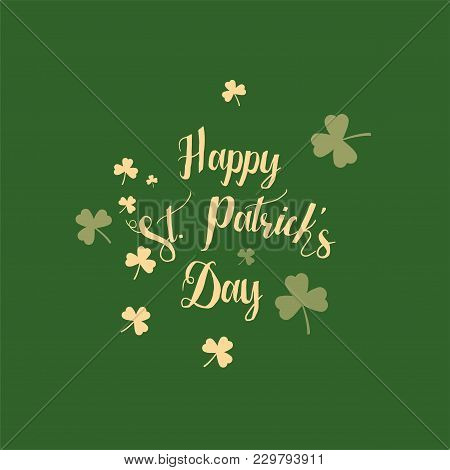 Vector Abstract Logo For St. Patrick's Day On Shamrock Background