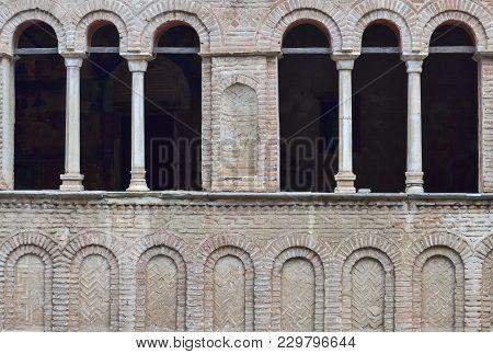 Detail Of Very Old Orthodox Church Saint Sophia In Ohrid