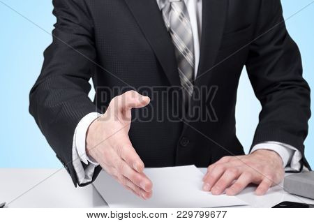 Business Man Signing Contract Making A Deal, Classic Business.