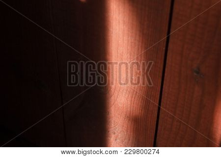 Sunny Glare On Wooden Board For Good Mood