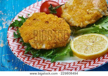 Viskoekies - Traditional  Cod Fish Cakes , Close Up