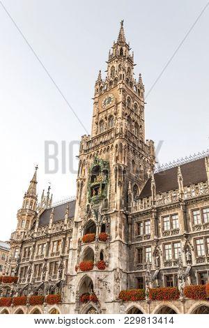 Famous Munich city hall at the marienplatz - Germany