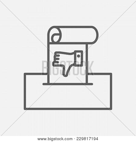 Complaint Icon Line Symbol. Isolated Vector Illustration Of  Icon Sign Concept For Your Web Site Mob