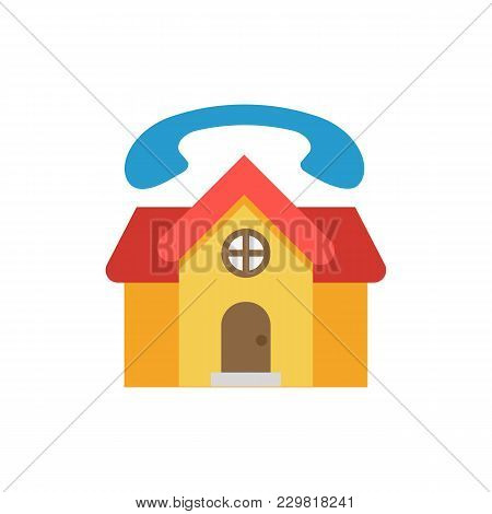Real Estate Support Icon Flat Symbol. Isolated  Illustration Of  Icon Sign Concept For Your Web Site