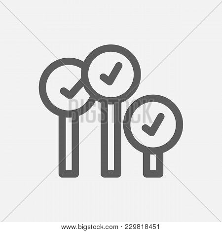 Bid-ask Spread Icon Line Symbol. Isolated  Illustration Of  Icon Sign Concept For Your Web Site Mobi