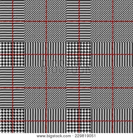 Seamless Vector Pattern. Classic Glen Plaid Pattern. Vector Image.