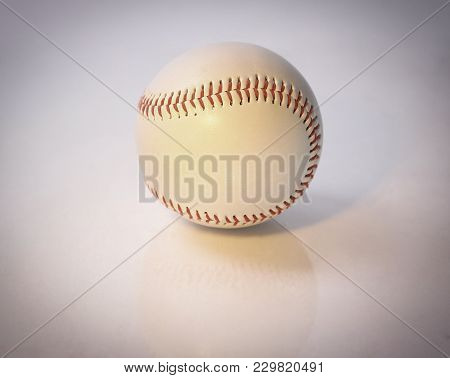 Baseball Ball .isolated On A White Background .photo With Copy Space