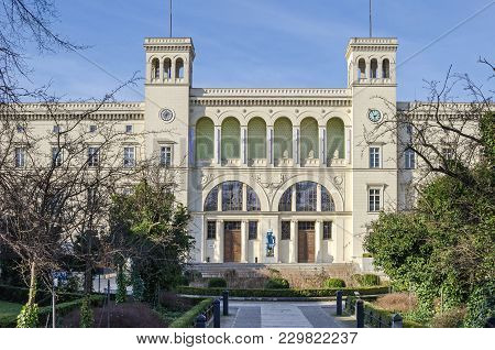 Berlin, Germany - February 23, 2018: Neoclassical Building Of The Hamburger Bahnhof, Now The State-o