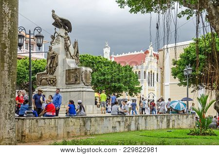 Panama City, Panama - November 3, 2017: People Celebrating The Independence Day At The Place Of Simo