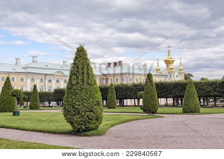 Russia, Saint-petersburg - 10082011 Peterhof A Park With Trees