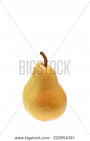 Isolated Ripe Yellow Pear On White Background