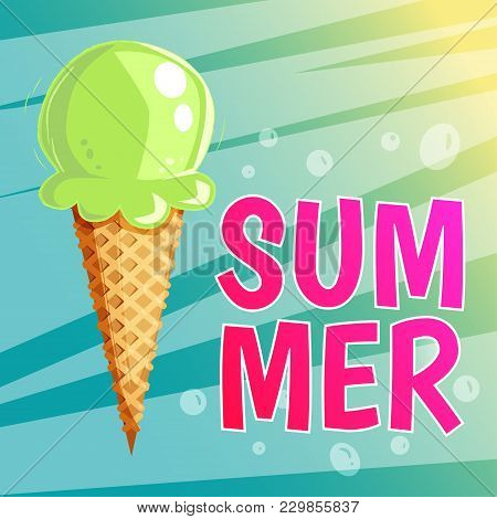 Ice Cream Summer Card