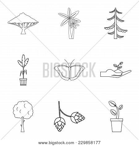 Environmental Zone Icons Set. Outline Set Of 9 Environmental Zone Vector Icons For Web Isolated On W