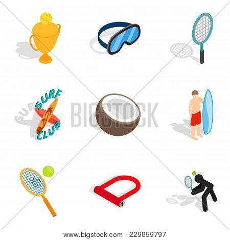 High Reward Icons Set. Isometric Set Of 9 High Reward Vector Icons For Web Isolated On White Backgro
