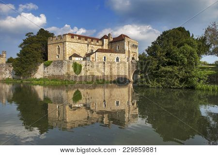 London, England - July 12, 2016 The Majestic Leeds Castle Situated In The Kent Region Of England.