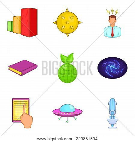 Human Intelligence Icons Set. Cartoon Set Of 9 Human Intelligence Vector Icons For Web Isolated On W
