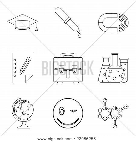 Important Knowledge Icons Set. Outline Set Of 9 Important Knowledge Vector Icons For Web Isolated On