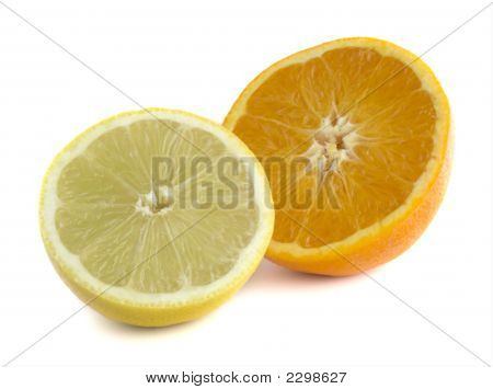 Isolated Orange & Lemon