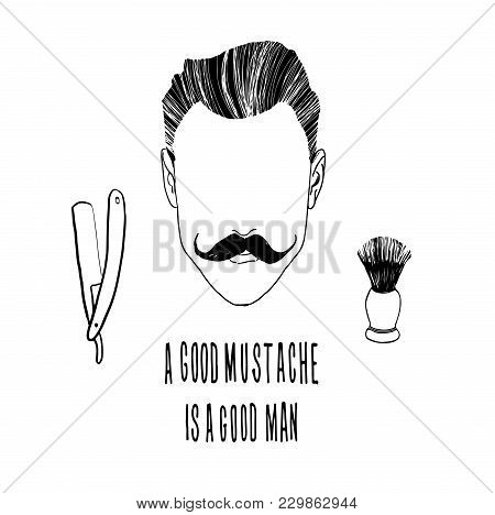 Inspirational And Motivational Illustration.hipster Hair And Beards.