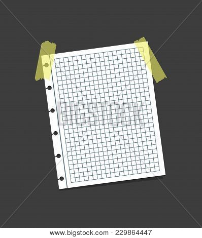 Realistic Blank Note Color Paper With Color Sticky Adhesive Yellow Tape Concept Reminder Board Offic